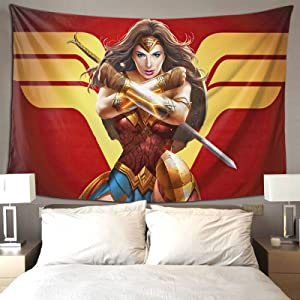 Deepon Movie Theme Tapestry Super Hero Wall Hanging for Cinephile Film Lovers for Bedroom Living Room Dorm Wall Art Decor 80×60 Inches