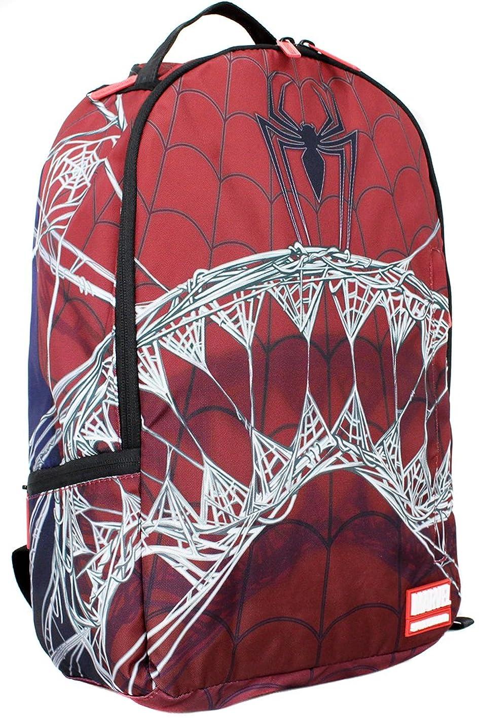 認証混合わかるSPRAY GROUND スプレイグラウンド マーベル スパイダーマン MARVEL SPIDERMAN WEBBED SHARK バックパック アメコミ コラボ リュックサック 鞄 メンズ レディース