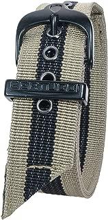 Bertucci DX3 #59 Khaki w/Black Stripe Nylon Watch Band Fits A-2T, A-3T, B-1T, D-1T, G-1T, A-2S