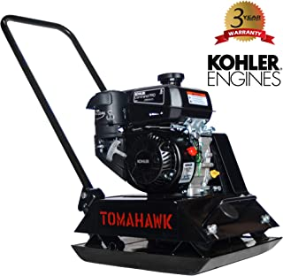 TOMAHAWK 6 HP Kohler Vibratory Plate Compactor Tamper for Dirt, Asphalt, Gravel, Soil Compaction with CH260 Engine