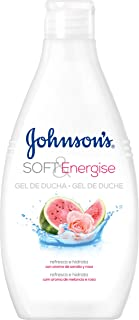 Johnson & Johnson – Gel de Ducha Soft & Energise, Sandía y Rosa 750ml (pack de 3)