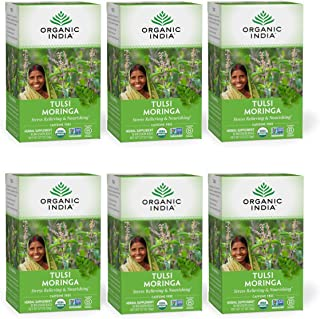 Sponsored Ad - Organic India Tulsi Moringa Herbal Tea - Stress Relieving & Nourishing, Immune Support, Vegan, Gluten-Free,...