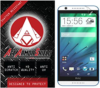 Ace Armor Shield Shatter Resistant Screen Protector for the HTC Desire 820 dual sim / Military Grade / High Definition / Maximum Screen Coverage / Supreme Touch Sensitivity /Dry or Wet Easy Installation with free lifetime replacement warranty