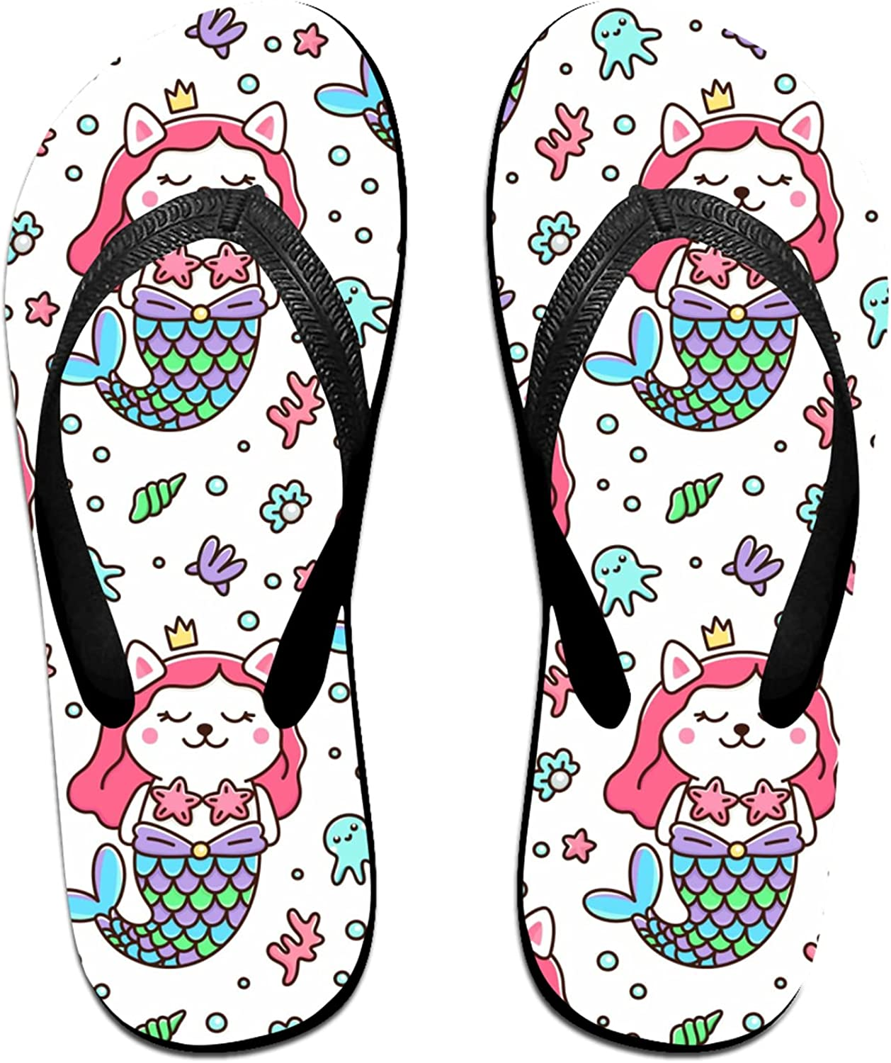 Women's Men's OFFicial shop Flip Flop Slippers Mer Pattern With Seamless Ranking TOP4 Cat