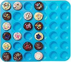 Premium Silicone Mini Muffin & Cupcake Baking Pan Large Non Stick 24 Cup Cookies Molds Bakeware Tin Soap Tray Mould by Mei...