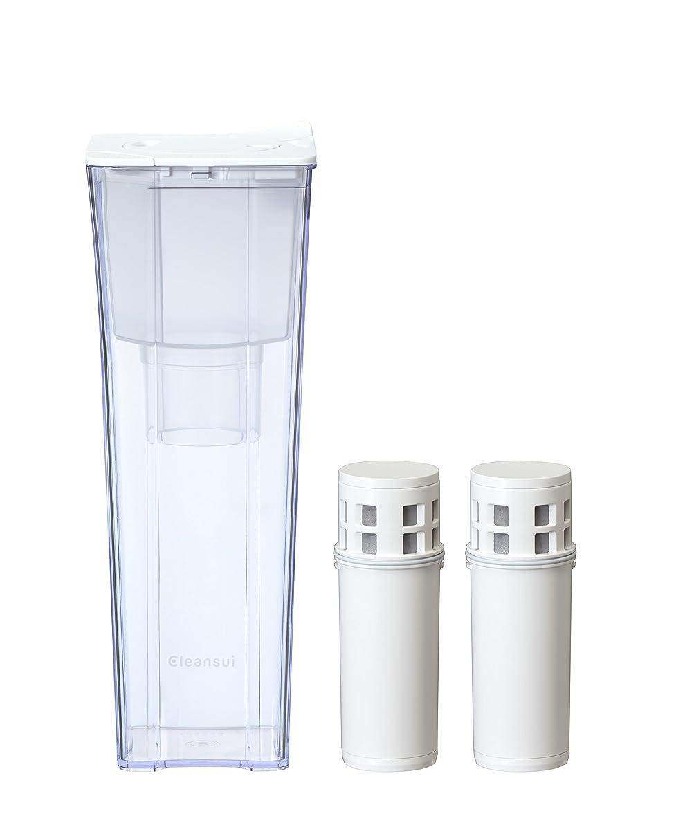 ダウン解き明かす一回三菱ケミカル?クリンスイ ポット型浄水器 CP012 + カートリッジ CP012W-WT