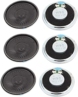 uxcell a15112300ux1550 2W 40mm Diameter 8 Ohm Internal Mini Magnet Speaker Loudspeaker 6Pcs Pack of 6