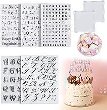 7 Pcs Alphabet Cake Stamp Tool Kit, 5 Pcs Alphabet Cake Cookie and Numbers Stamps Fondant Cake Mold, 2 Pcs Stamping Blocks...