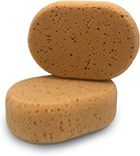 Radami 2 x Autoschwamm Waschschwamm Jumbo Schwamm Putzschwamm Autopflege Felgen Lack Reinigung oval
