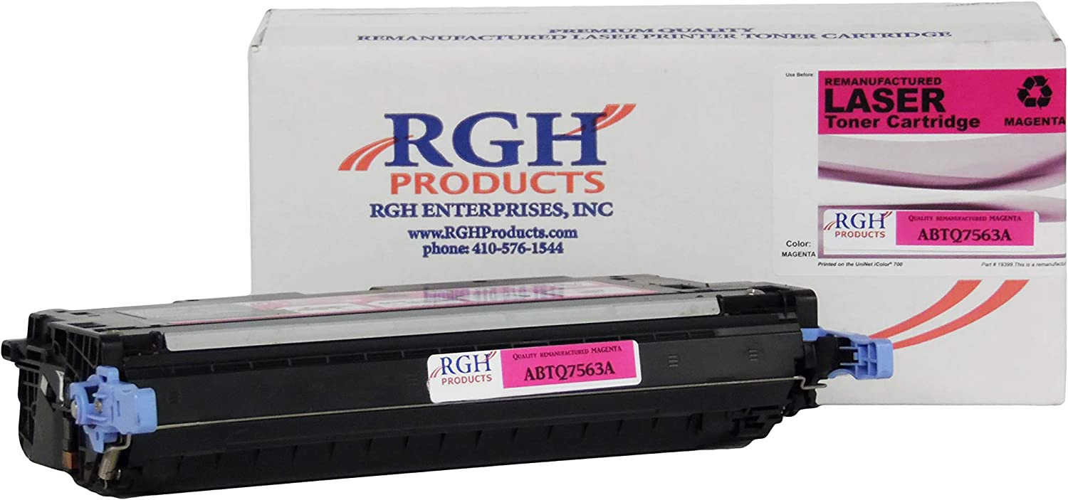RGH Products Remanufactured Toner Cartridge ABTQ7563A Tray Toner Cartridge Replacement for HP Q7563A Printer Magenta