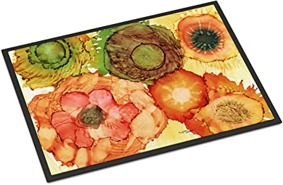 "Caroline's Treasures Abstract Flowers Blossoms Indoor or Outdoor Mat 24x36 8970JMAT, 24""H x 36""W, Multicolor"