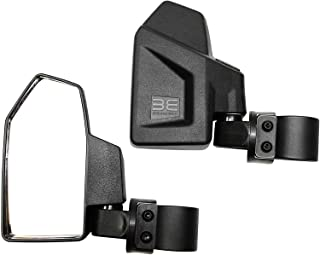"Bevel Engineering Rear View Side Mirror Kit for UTV (2 Pack) Fits 1.6"" - 2"" Roll Cage Bar Break Away and Adjustable - High Impact Shatter Proof Tempered Glass (Driver and Passenger Side)"