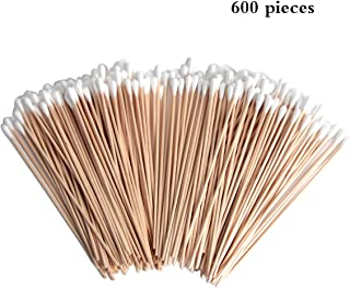 SBYURE 600 Pcs Cotton Swabs, Cleaning Sterile Sticks for Eye Ears Eyeshadow Brush,Makeup Cosmetic Applicator Sticks,6 inch