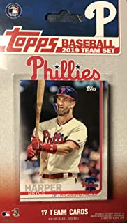 Philadelphia Phillies 2019 Topps Factory Sealed Special Edition 18 Card Team Set with The First Phillies Card of Bryce Harper Plus Rhys Hoskins and Others