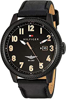 Tommy Hilfiger Jasper Men's Black Dial Leather Band Watch - 1791314
