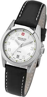 Swiss Military - 06-6030.04.001.07 - Reloj de Mujer de Cuarzo, Correa de Piel Color Negro