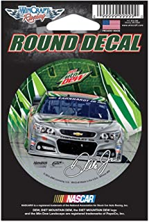WinCraft NASCAR Dale Earnhardt Jr 65978015 Round Vinyl Decal, 3