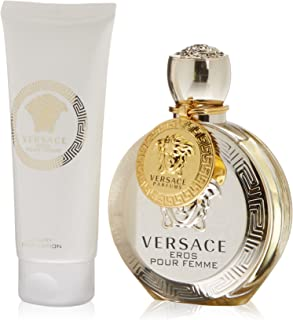 Versace Eros Pour Femme by Versace Perfume Gift Set for Women - Eau de Parfum, 6.8 oz, 3 Count