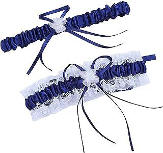 مجموعة أربطة أربطة أربطة لأرجل الزفاف والزفاف للنساء أربطة حزام مع قذفه JW20