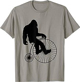 Bigfoot Big Wheel Penny Farthing Bicycle Crypto T-Shirt