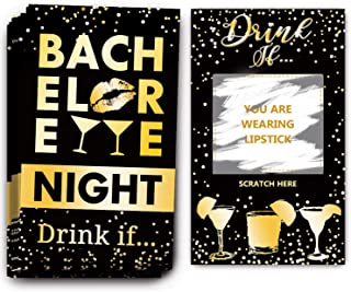 Bachelorette Party Drinking Games - Drink If Games Scratch Off Cards - Perfect for Girls Night Out Activity,Bridal Showers...