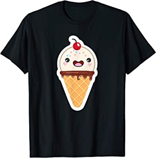 アイスクリームバニラチェリーのスプリンクル Tシャツ