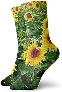 yting, Niños Niñas Locos Divertidos Girasoles Calcetines estampados Lindos calcetines de vestir de novedad