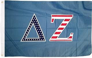 Delta Zeta USA Letter Sorority Flag Greek Letter Use as a Banner Large 3 x 5 Feet Sign Decor dz