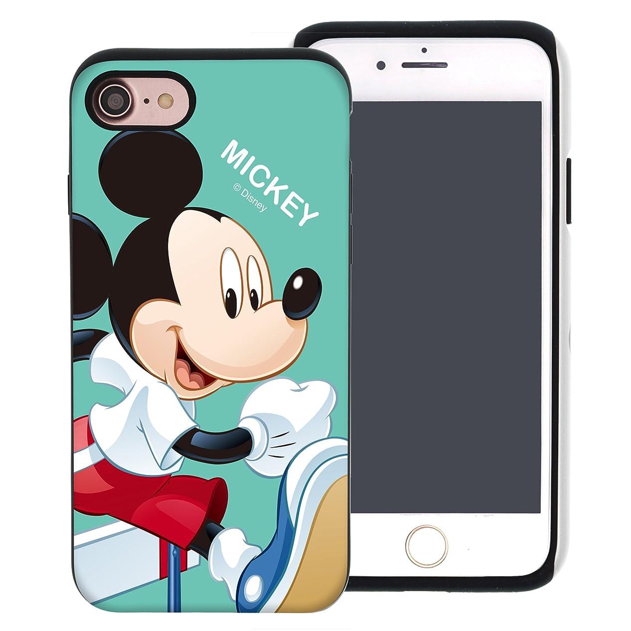 維持する立法無駄にiPhone 8 ケース iPhone 7 ケース Disney Mickey Mouse ディズニー ミッキーマウス ダブル バンパー ケース/二層構造 TPUケース + PCカバー/デュアルレイヤー 耐衝撃 薄型 衝撃吸収 【 アイフォン8 ケース / アイフォン7 ケース (4.7