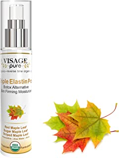 Sponsored Ad - Triple Elastin Pro - Botox Alternative Skin Firming Moisturizer - by Visage Pure - USDA Organic - Physician...