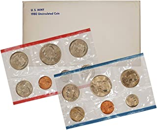1980 United States Mint Uncirculated Coin Set in Original Government Packaging