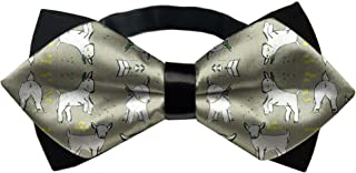 YINLAN Men Fashion Novelty Gift - Adjustable Pre-Tied Bow Tie for Wedding Party Banquet - Baby Goats in Grey Bowtie