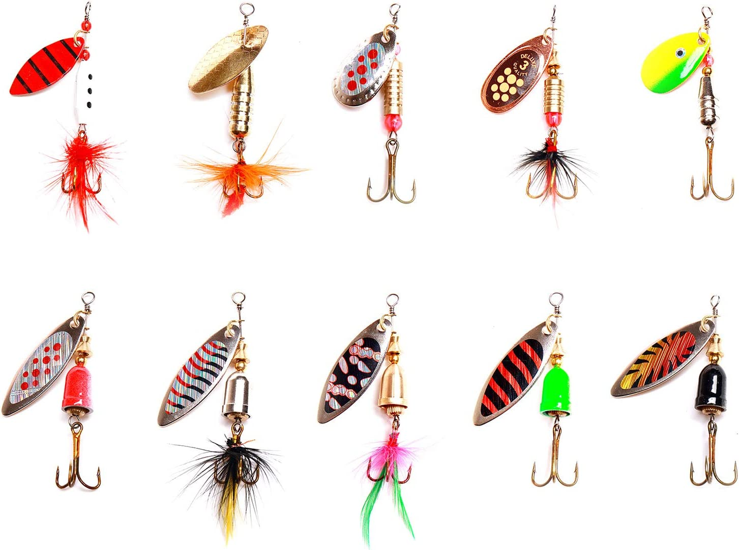 iBait 10pcs Spinnerbaits Fishing Wholesale Hard Baits 55% OFF Lures Spinner Metal