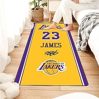 Tritow NBA Series Tapis Lebron James Tapis de Salon Jersey Numéro 23 Tapis Antidérapant Salon Paillasson Facile à Nettoyag...