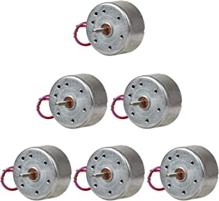 Topoox 6 Pack DC 3V 1730RPM Mini Electric Motor for DIY Toys Wind Turbine Generator