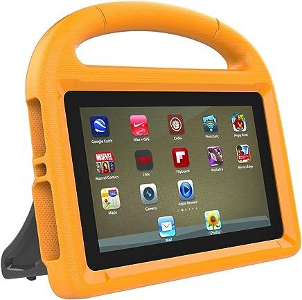 LEDMOMO Fire 7 2017 Kids Case, Handle Stand EVA Protective Cover Shock Proof Case for Amazon Kindle Fire 7 Tablet (Orange)