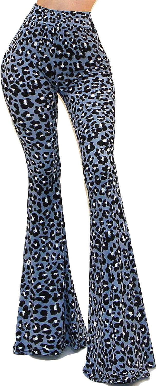 Vivicastle Womens USA Boho Comfy Stretchy Bell Bottom Flare Pants