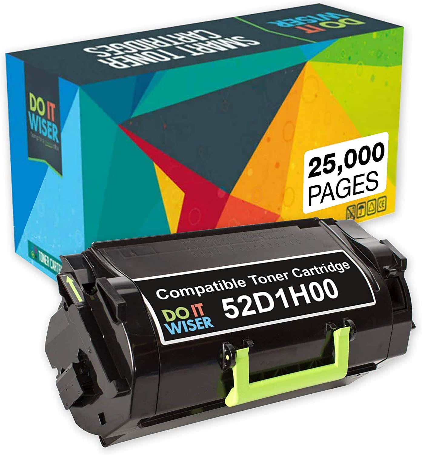 Do it Wiser Toner Cartridge Compatible with Lexmark 521H 52D1H00 MS810, MS810de, MS810n, MS710, MS710n, MS811, MS811n, MS812 tray (High Yield 25,000 Pages)