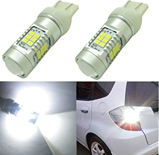 Alla Lighting Newest High Power 3035 SMD 7443 7440 T20 Super Extremely Bright White LED Lights Bulbs for Turn Signal Brake Tail Back Up Reverse Light