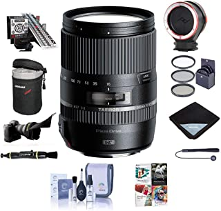 Tamron 16-300mm f/3.5-6.3 Di II VC PZD Macro Zoom Lens, for Canon EF SLRs - Bundle with 67mm Filter Kit, Lens Case, Peak L...