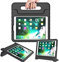 AVAWO Kids Case for New iPad 9.7 2017 & 2018 Release - Light Weight Shock Proof Convertible Handle Stand Friendly Kids Case for iPad 9.7-inch 2017 & 2018 Previous Gen (iPad 5th & 6th Gen) - Black