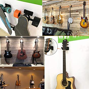 Hidaer Guitar holder Guitar Hanger Wall Hook Stand for Bass Electric Acoustic Guitar Ukulele pack of 4pcs (2pcs)