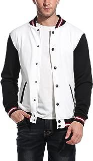 Mens Slim Fit Varsity Baseball Jacket Bomber Cotton Premium Jackets
