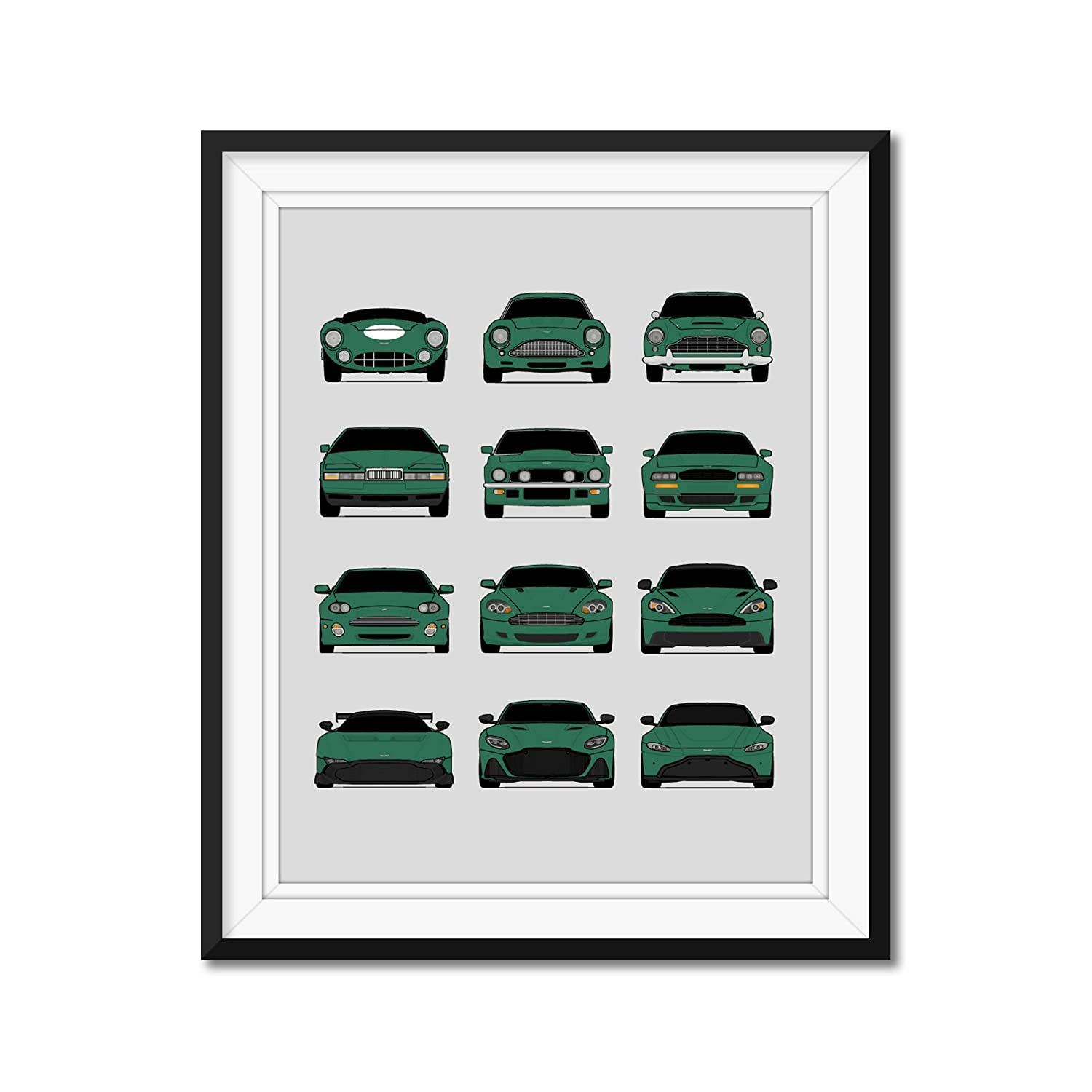 Aston Martin Generations Inspired Sale New Orleans Mall SALE% OFF Poster Print Wall Handmade Art