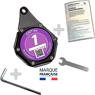 Porte Vignette Assurance Moto - Porte Vignette Crit Air - Accessoire Moto - Support Assurance Moto Étanche Aluminium Noir ...