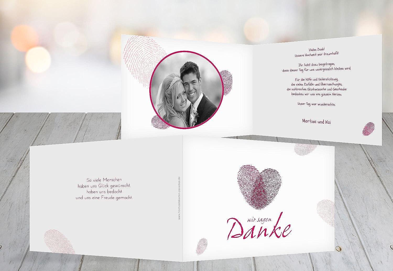 Kartenparadies Danksagung für Hochzeitsgeschenke Hochzeit Dankeskarte fingerprint, hochwertige Danksagungskarte Hochzeitsglückwünsche Hochzeitsglückwünsche Hochzeitsglückwünsche inklusive Umschläge   10 Karten - (Format  148x105 mm) Farbe  RosaLeuchtend B01NBX3PYV | Ab dem neues 8d4e95