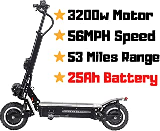 OUTSTORM MAXX 60MPH Ultra High Speed Electric Scooter for Adults Foldable, 5000W Power Dual Motor| 60V /38.5Ah Battery | 83 Miles Range | Grade 30°