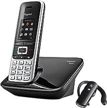 KEESIN manos libres Call Center Tel/éfono con micr/ófono monoaural con cable Control de volumen cancelaci/ón de ruido auriculares con 2,5 mm Jack para oficina tel/éfono DECT