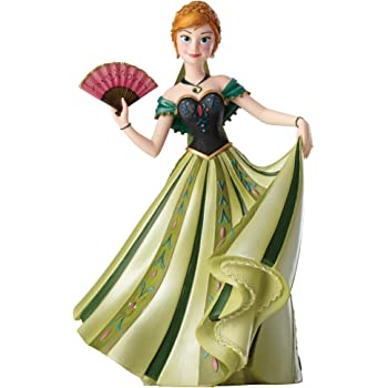 Jim Shore for Enesco Disney Showcase Anna Couture Deforce Figurine, 8""