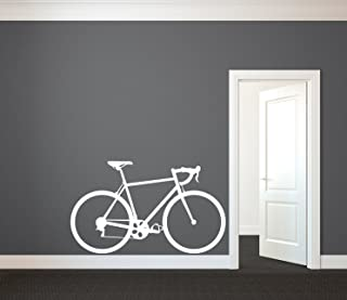 43SabrinaGill Road Bike or Beach Cruiser Bicycle Vinyl Art Wall Stickers for Homes Kids Rooms Classrooms Decor 75